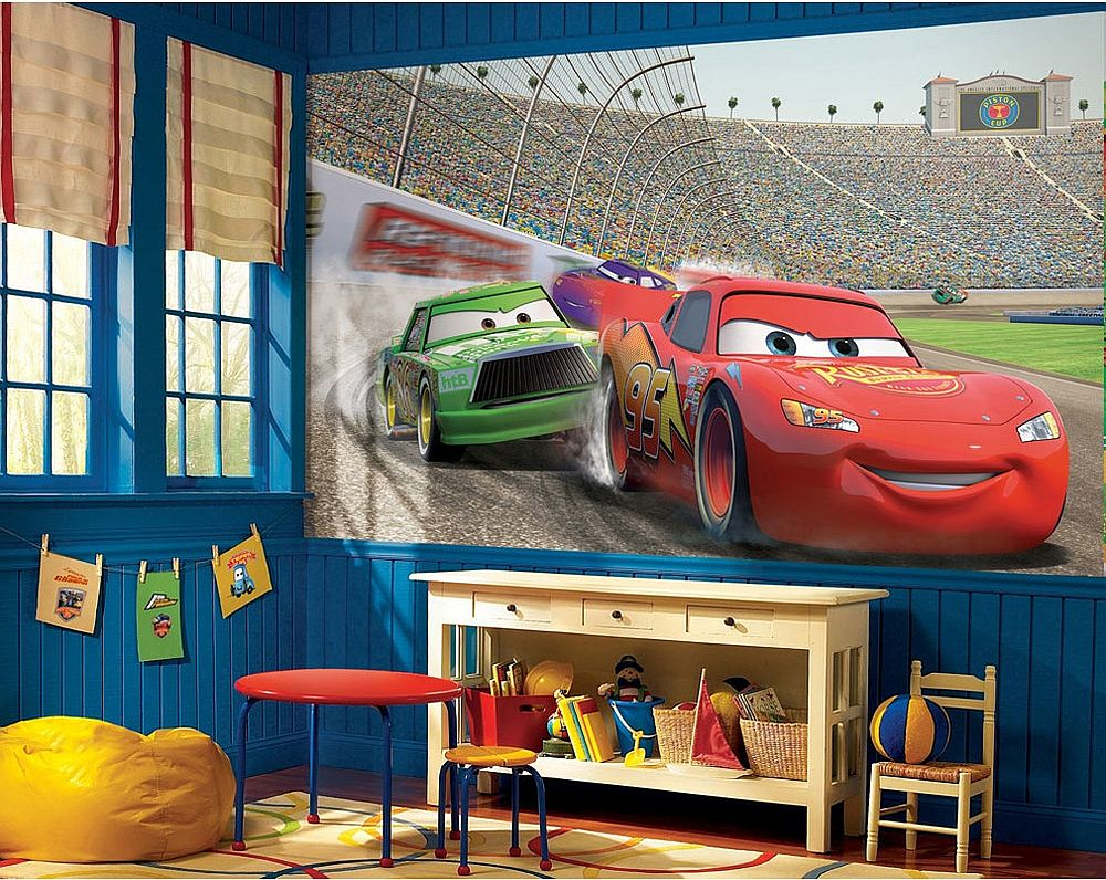 Disney cars fotobehang op maat gemaakt for Disney car bedroom ideas