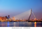 erasmus-bridge-erasmusbrug-twilight-city-260nw-155068205