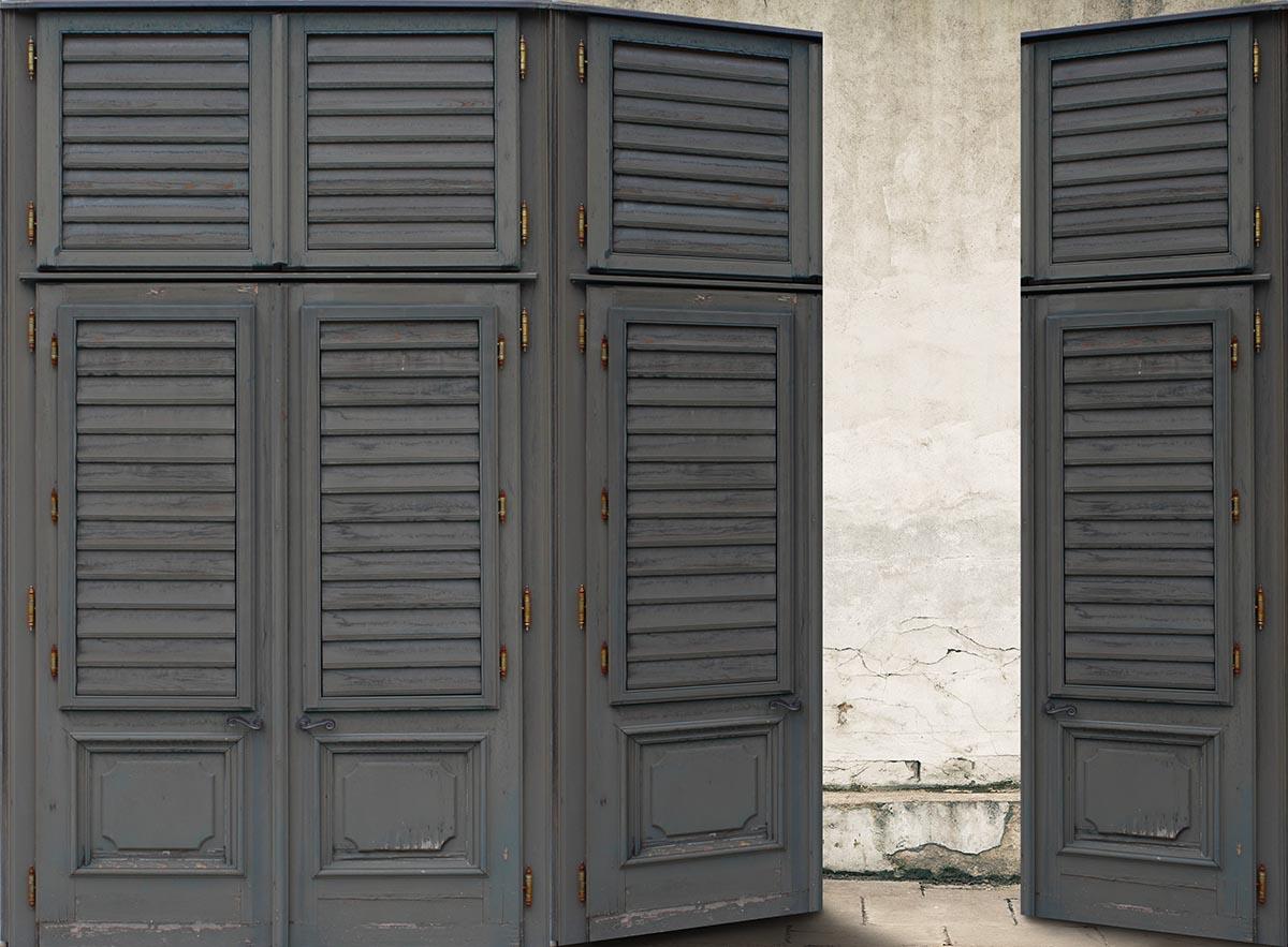 Voorkeur Fotobehang Riviera Maison met Louvre deuren GL68