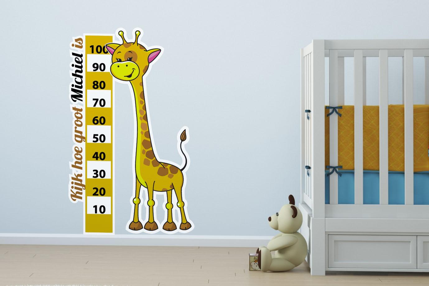 Kinderkamer Betaalbare Kinderkamer : groeimeter giraffe Betaalbare ...