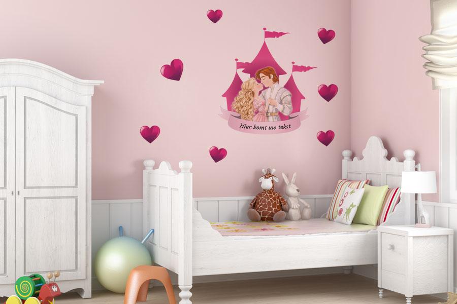 Kinderkamer Betaalbare Kinderkamer : Muursticker prins en prinses ...