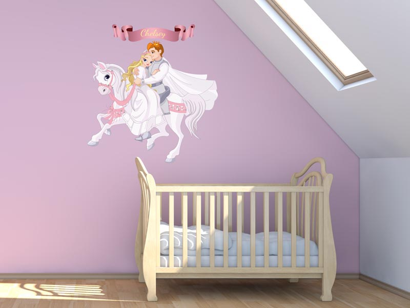 Paarden Sticker Muur.Muurstickers Kinderkamer Muursticker Prins Op Het Witte Paard