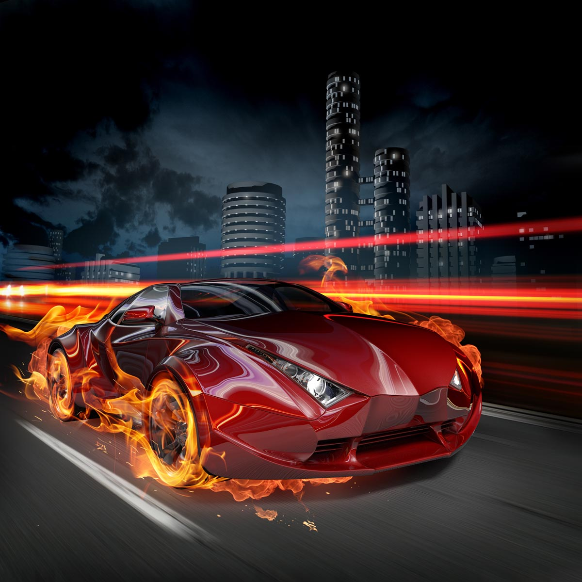 Fotobehang Coole Race Auto