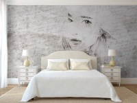 Fotobehang art-collection young girl in love - slaapkamer