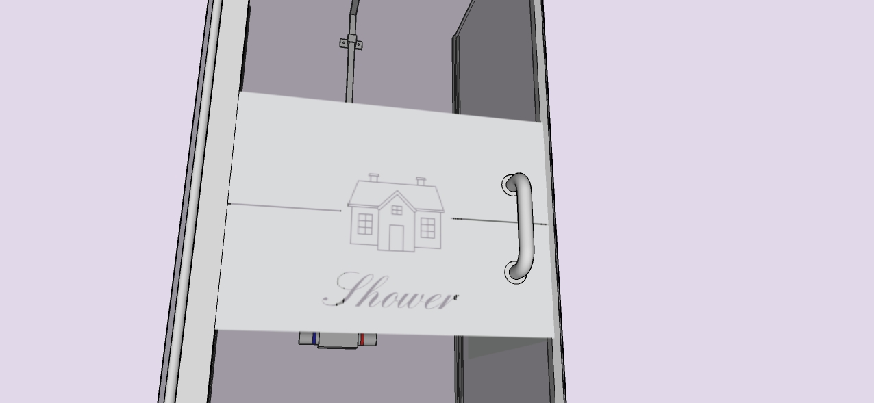 Badkamer en douche: Raamfolie douche - Home Shower