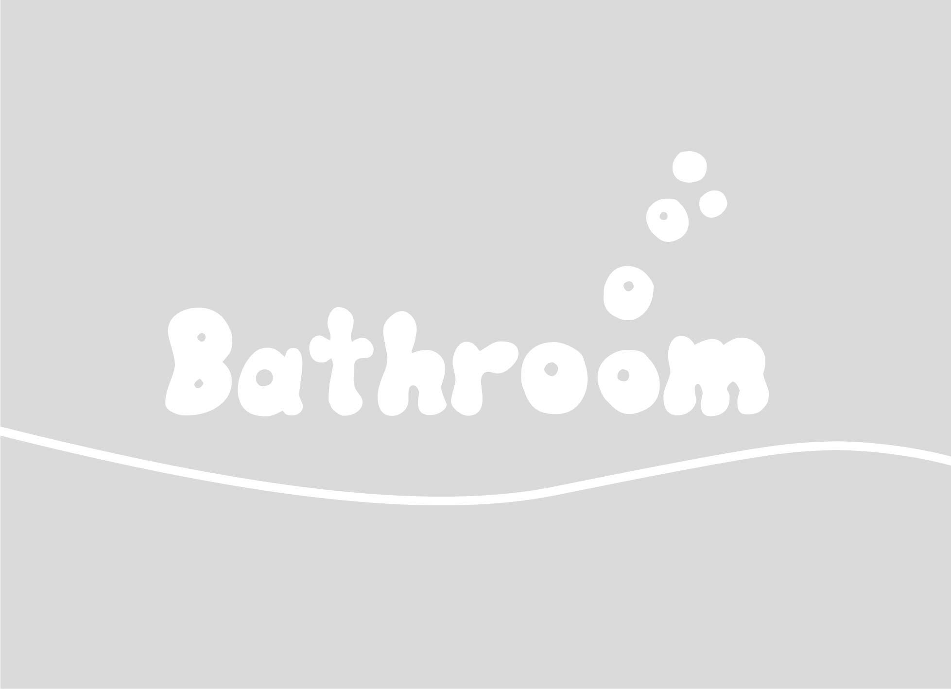 Badkamer en douche: Raamfolie douche - Bathroom bubble leters