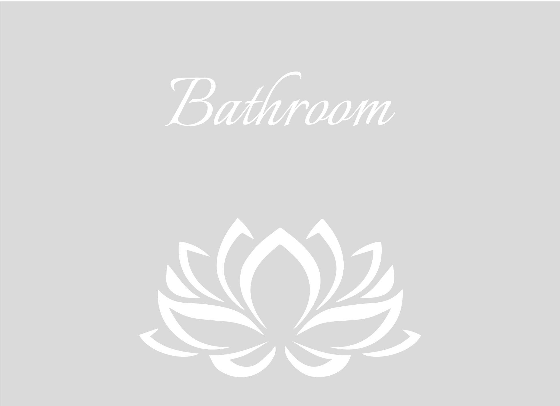 Badkamer en douche: Raamfolie douche - Bathroom lotusbloem
