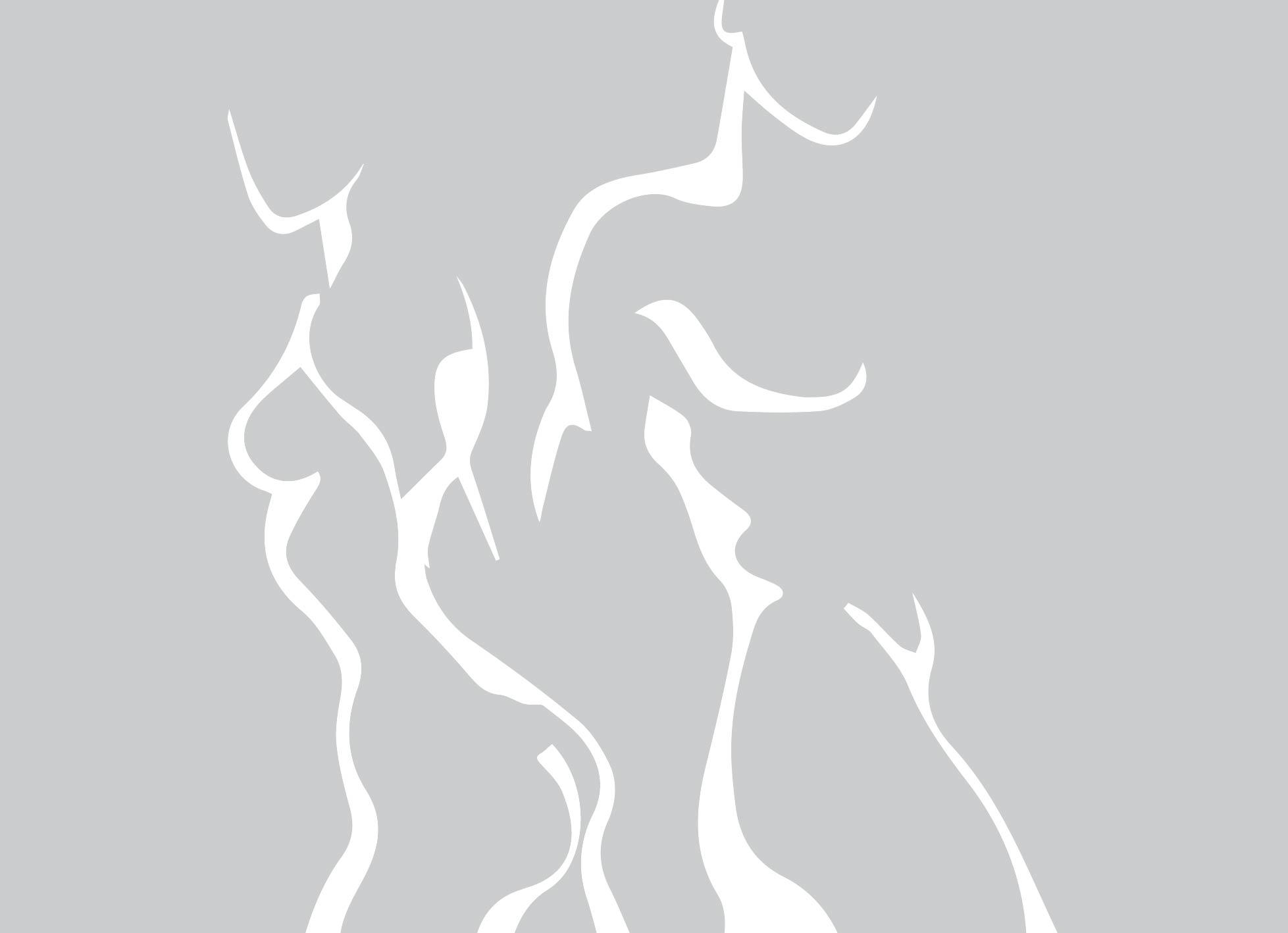 Badkamer en douche: Raamfolie douche - man/vrouw silhouette