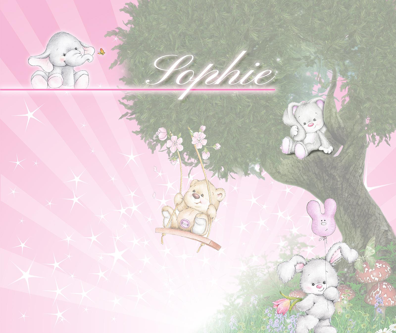 Fotobehang roze babykamer